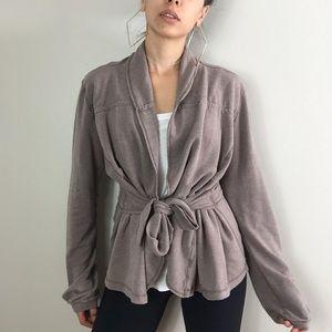 Lululemon dark grey robe style cardigan